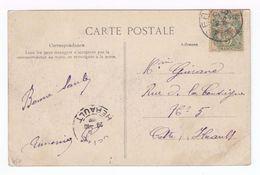 Sur Carte Postale Type Blanc Surchargé 5 Centimos. CAD 1907. Destination Cette: CAD. (1750) - Maroc (1891-1956)