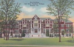 Indiana Muncie Arts Building Ball State Teachers College 1951 Curteich - Muncie