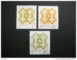 Lietuva Litauen Lituanie Litouwen Lithuania 1999 MNH # Mi. 682/4 II Definitive Issue.Double Cross. - Lituanie
