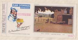 777  BUVARD FLAN LYONNAIS PROVENCE LE DEPART DU BERGER - Dairy