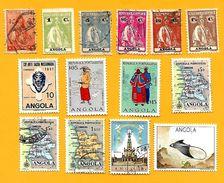 2858 - ANGOLA  --  Lot De Timbres  Oblitérés - Angola