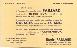 Buvard  Garage Paillard 21 Cm X 13,5 Cm ( Auréole ) - Buvards, Protège-cahiers Illustrés