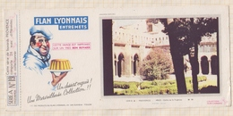 778  BUVARD FLAN LYONNAIS PROVENCE ARLES CLOITRE DE ST TROPHIME - Produits Laitiers