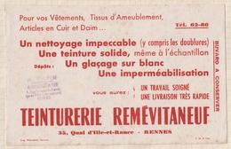 785  BUVARD TEINTURERIE REMEVITANEUF RENNES - Textile & Clothing