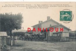 69 // SAINTE FOY L ARGENTIERE   L A Gare, Extérieur, Les Courriers De Duerne, St Martin.... Attendent L'arrivée Des Tain - Villefranche-sur-Saone