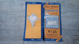 Carte Michelin De La France  N°36 Foix Perpignan - Strassenkarten
