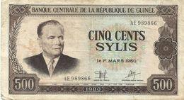 Guinea - 500 Sylis 1980 - Guinée