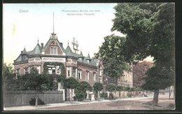 AK Cosel, Promenaden-Strasse Mit Kaiserlichem Postamt - Deutschland