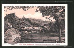 """AK Hohenstein, Gasthaus """"Zur Burg Hohenstein"""", Totalansicht Vom Wald Aus - Zonder Classificatie"""