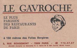 Le Gavroche Restaurant Paris.   S- 3826 - Advertising