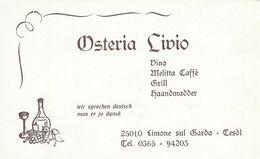 Osteria Livio.  Limone Sul Garda  Italy.  S-3827 - Advertising