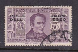 Italy-Colonies And Territories-Aegean General Issue-Rodi S49 1932 Dante Alighieri 50c Lilac Used - General Issues