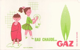 Buvard Gaz ( Pliure ) 21 Cm X 13,5 Cm - Buvards, Protège-cahiers Illustrés