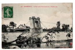 42 - Andrézieux . Le Pont Après L'Inondation Du 17 Octobre 1907 - Réf. N°4080 - - Andrézieux-Bouthéon
