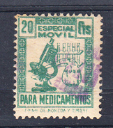 ESPAÑA.1955. ESPECIAL MOVIL PARA MEDICAMENTOS. 20 CENTIMOS. USADO CECI 2.26 - Fiscales