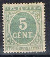 Sello 5 Cts Verde Impuesto Guerra 1897, Edifil Num 232 * - Impuestos De Guerra