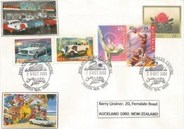 Voitures Australiennes Chrysler Valiant - Ford Coupé Utility, Lettre De Perth Adressée En Nouvelle-Zélande - Automovilismo