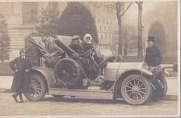 Carte Photo : Superbe Automobile, à Paris (75) Avenue Alexandre III , Tout Bien Empaqueté (phares, Rétroviseur, Roue ... - Cars