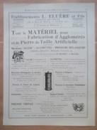 1922 - Ets ELUERE   -  Presse à Briques  - Page Originale MACHINE Industrielle - Tools