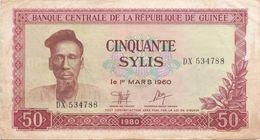 Guinea - 50 Sylis 1980 VF+ - Guinee