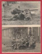 Armée Belge - Tir à La Mitrailleuse ... Maxim Et Hotchkiss ( Voir Verso ) - Matériel