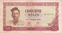 Guinea - 50 Sylis 1980 VF+ - Guinée