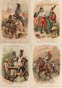 Chromo Ricqlès, Uniformes De L'armée Française 1789-1906 X 10 - Trade Cards