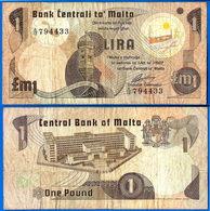 Malte 1 Lira 1979 Loi De 1967 Serie A 3 SANS Le Point With NO Dot Malta Skrill Paypal Bitcoin OK - Malta