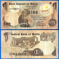 Malte 1 Lira 1979 Loi De 1967 Serie A 12 AVEC Le Point With Dot Malta Skrill Paypal Bitcoin OK - Malte