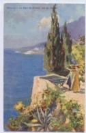 MONACO LA BAIE DE MONACO VUE DU ROCHER  CARTE DESSINEE - Monaco