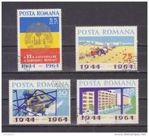 1964,  Anniv De La Libération, YV=2046/2049 Et MI=2305/2308 - 1948-.... Republics