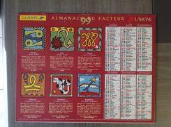 LA POSTE - Calendrier ALMANACH Du Facteur PTT - 1999 - Horoscope - LAVIGNE - Pas De Calais 62 - Excellent état - Tamaño Pequeño : 1991-00