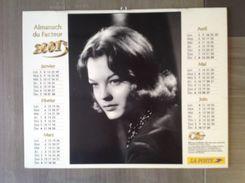 Calendrier ALMANACH Du Facteur PTT - 2001 - Romy SCHNEIDER Gerard PHILIPPE - OLLER - Pas De Calais 62 - Excellent état - Calendarios