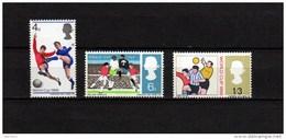 UK England 1966 Football Soccer World Cup Set Of 3 Phosphorescent Paper MNH - 1966 – Inglaterra