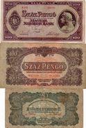 UNGHERIA- LOTTO 3 BANCONOTE - Hungary