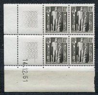3807  -  ALGERIE  N°288**  Apollon De Chercell   Coin Daté  Du  14.12.51   SUPERBE - Neufs
