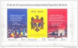 2016. Moldova, 25y Of Independence,  S/s,  Mint/** - Moldavië