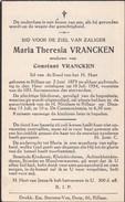 Doodsprentje - Maria Theresia Vrancken - Rillaar - Aarschot