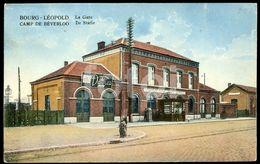 OLD POSTCARD TRAIN STATION LA GARE BOURG LEOPOLD BELGIQUE  BELGIUM CARTE POSTALE - Leopoldsburg