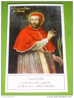 """S.LUCIO I° Papa E Martire - Cappella """"Tempietto Di Moncucco"""" In BRUGHERIO, Monza-Brianza - Santino - Images Religieuses"""