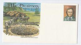 HORSES, LIME BURNER Norfolk Island POSTAL STATIONERY COVER Horse Minerals Stamps - Horses