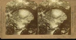 Bettws Y Coed North Wales Old Roman Bridge Wright Publisher 1901 Photographie Stéréoscopique Photo Stéréo XIXe Collée Su - Stereoscopic