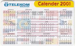 MALAYSIA(chip) - Calendar 2001, Telecom Malaysia RM20, Used - Malaysia