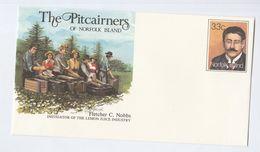 LEMON JUICE INDUSTRY Norfolk Island POSTAL STATIONERY COVER Stamps Drink Fruit - Norfolk Island