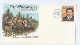 LEMON JUICE INDUSTRY Norfolk Island POSTAL STATIONERY COVER Fruit FIRST DAY Stamps Drink - Norfolk Island