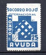 Viñeta Politica  Nº 517B/ 1535   Socorro Rojo Internacional. Azul - Viñetas De La Guerra Civil