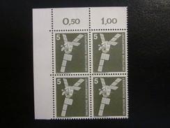 BRD Nr. 846 Viererblock Eckrand Postfrisch** (B46) - Ungebraucht