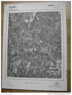 GRAND PHOTO VUE AERIENNE 66 Cm X 48 Cm De 1979  BLEGNY SAIVE - Carte Topografiche