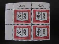 BRD Nr. 382 Viererblock Eckrand Postfrisch** (B46) - BRD
