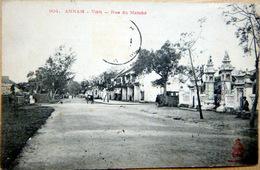INDOCHINE VIETNAM ANNAM VINH RUE DU MARCHE VOYAGE 1911 - Viêt-Nam